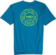 DRAINS TO OCAEN SS TEE X-Large Turquoise Blue