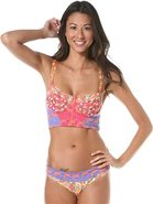 PEACHES &amp; WOLVES BUSTIER BIKINI TOP Large