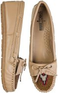 BEADED KILTY MOCCASIN Sand Beige