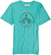 CLEAN FUN SS TEE Large Turquoise Blue
