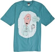 YGG JON HEDER SS TEE Large Teal Blue