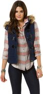 INVESTED VEST Large Navy Blue