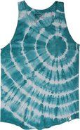 HEART BURST TANK Large Teal Blue