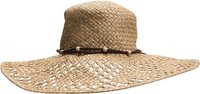SHADY DAYS FLOPPY STRAW HAT Natural White