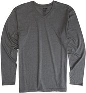 ESSENTIAL VNECK LS Small Heather Gray