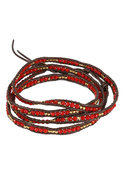 Wrap Bracelet in Red Coral/Tamba
