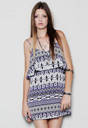 Summer Lovin Dress in Purple Aztec