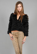 Honor Fur Jacket in Black