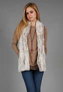 Faux Fur Vest in Cream