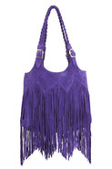 Shelly Bag in Purple Suede