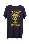 Local Celebrity Trophy Boyfriend Tee in Navy