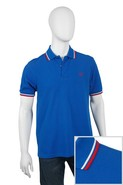 Twin Tipped Polo Shirt in Prince Blue with White &