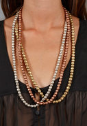 Large Beaded Long Necklace in Many Colors