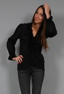 Valmont Rouched Party Top in Black