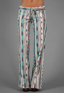 St. Barts Pant in Pink/Turquoise Ikat