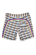 17 Inch Low Rise Boardshort in White Plaid