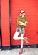 Lita Shoe in Leopard/Pink Combo