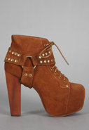 Lita Harness in Rust Suede - Singer22 Exclusive