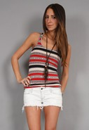 Adi Blanket Tank in Multi Red