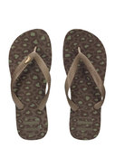 Camo Flip-Flop in Dark Brown