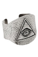 Evil Eye Cuff in Palladium