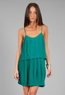 Pleated Dress in Kelly Green