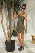 Twist Shoulder Dress in Multi