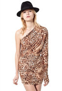 Hilary Leopard Dress in Natural