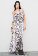 Summer Lovin Maxi Dress in Silk Snake