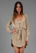Silk Hook & Eye Shirt Dress