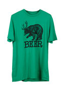 Local Celebrity Beer Bear Tee in Green