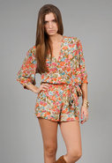 Romper in Paris Print
