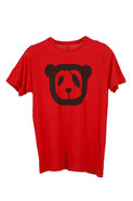 Panda Logo S/S Crew Tee in Red