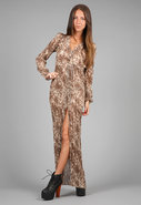 Lovely Leopard Dreamtime Dress in Mocha Combo