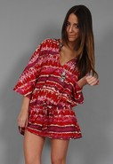 V Neck Tunic in Tye Dye