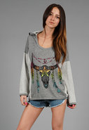 Pullover Tribal Sweatshirt in Heather Grey