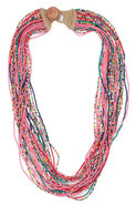 Beaded Necklace in Pink