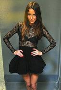 Addict Skater Dress in Black
