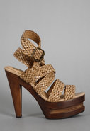 Ric Woven Shoe in Nude