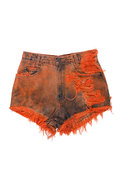 Vintage Frayed Short in Orange Tie Dye