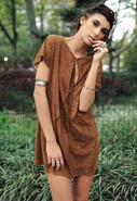 Shift Dress in Tan