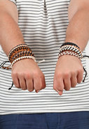 Burkman Bros Earth Tone Knotted Bracelet Sets