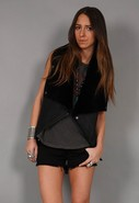 Cascade Sheepskin Vest in Black