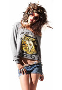 Farrah Hippie Van Cropped Sweatshirt in Heather Gr