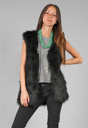 Faux Goat Fur Vest in many colors