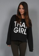 That Girl Boyfriend Pullover in Black