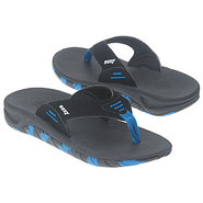 Slap Tod/Pre/Grd Sandals (Black/Royal) - Kids' San