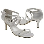 Locket Shoes (Diamond White Satin) - Women's Weddi