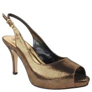 Saturna Shoes (Black/Gold) - Women's Shoes - 8.5 N