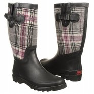 Straberry Plaid Boots (Charcoal) - Women's Rain Bo